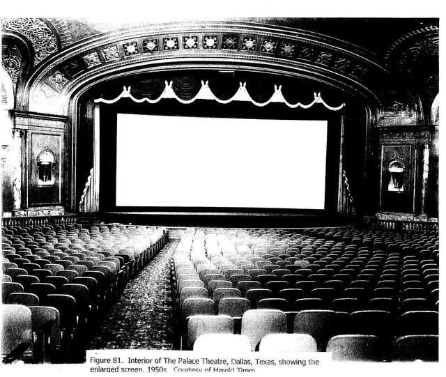Palace auditorium with CinemaScope screen