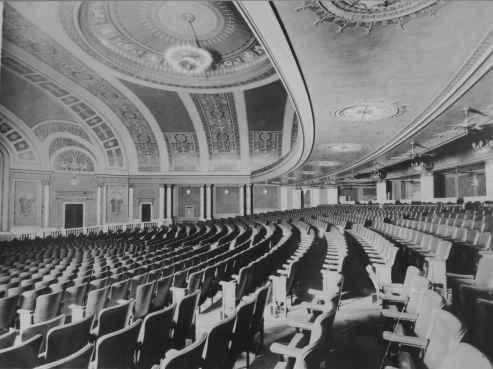 Palace auditorium, rear