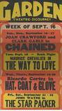 "[""Garden Theatre Sept. 1934""]"