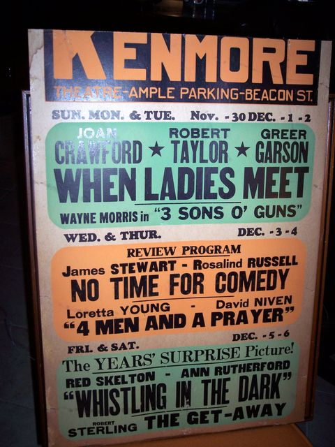 Vintage Kenmore Movie Announcement November-December 1941