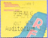 Regal Cinema 6, Wilson, NC - Spider-Man ticket stub 2002