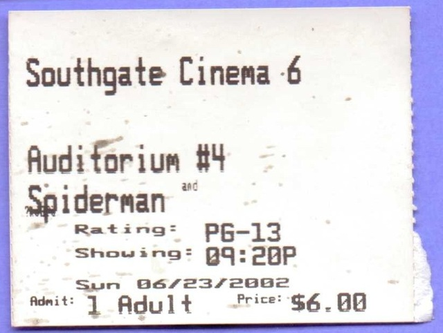 Southgate Cinema 6 - Spider-Man, June 23, 2002