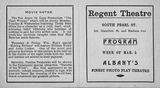 Program for the Albany Regent, February 1917
