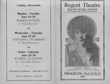Program for the Albany Regent, June 1917
