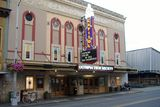 <p>Early evening picture of the front of the building with the brand new marquee.</p>