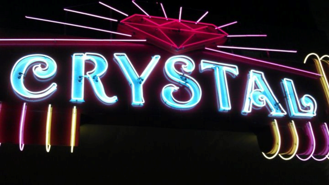 Crystal Theater at night