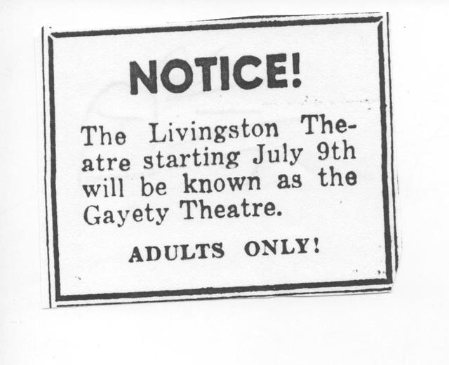 will be known as the Gayety Theatre