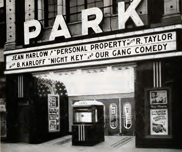 PARK (nee PEERLESS) Theatre; Chicago, Illinois.