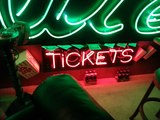 Neon Ticket Booth sign