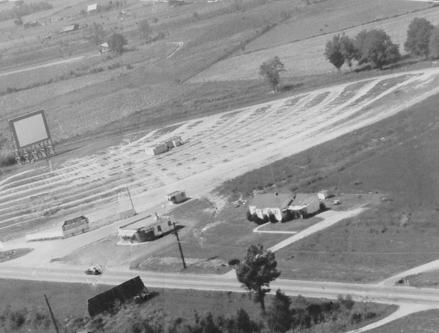 Aerial of The Varsity from around 1950