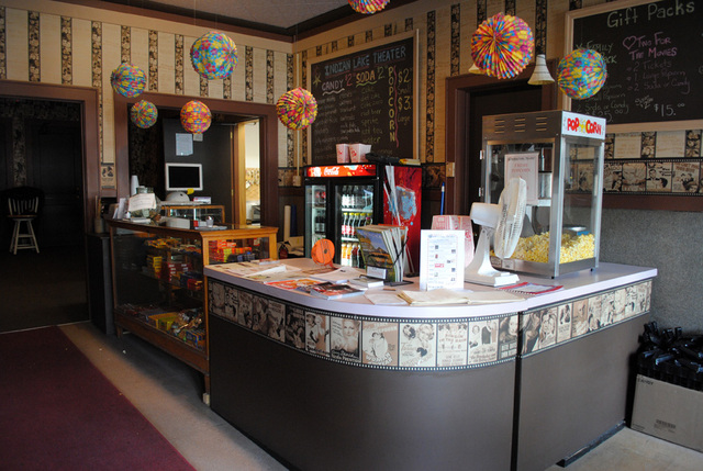 concession stand, Indian Lake Theater