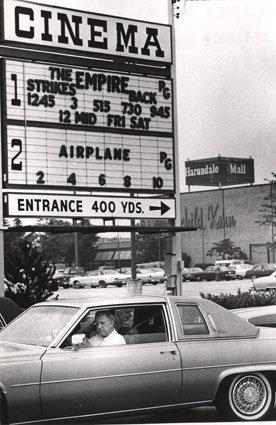 Harundale Cinema marquee 1980
