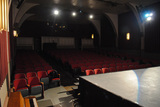 auditorium seen from stage left facing back, Indian Lake Theater