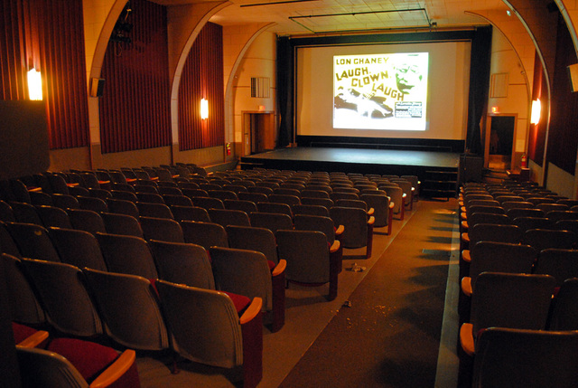 auditorium seen from back, Indian Lake Theater