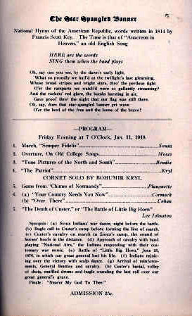 LIBERTY Theatre, Camp Custer, Battle Creek, Michigan - Dedicatory Program.