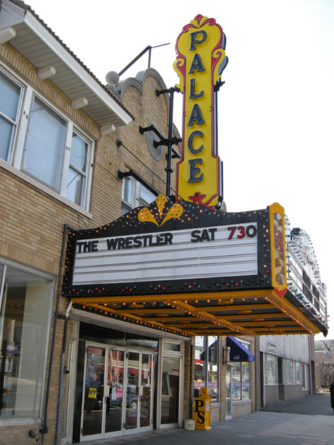 left side of marquee