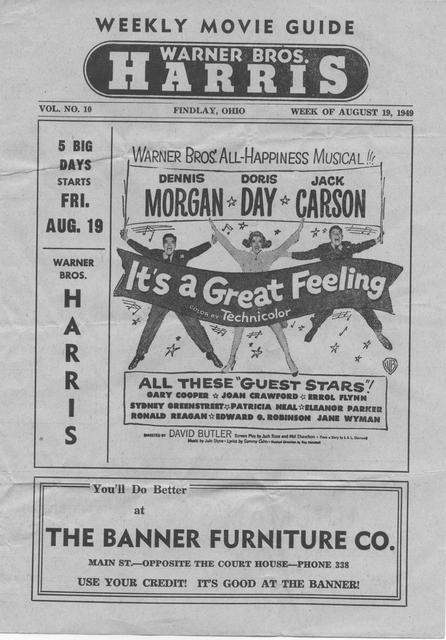 Weekly Movie Guide / WEEK OF AUGUST 19, 1949