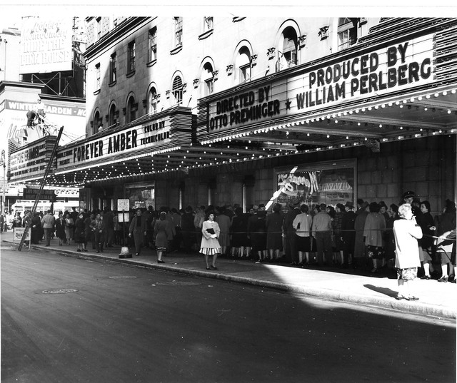 Opening day Forever Amber, ROXY NY 1947