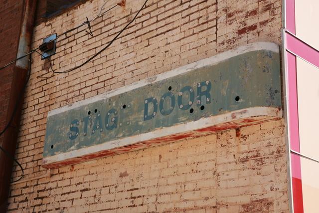 Stage Door signage