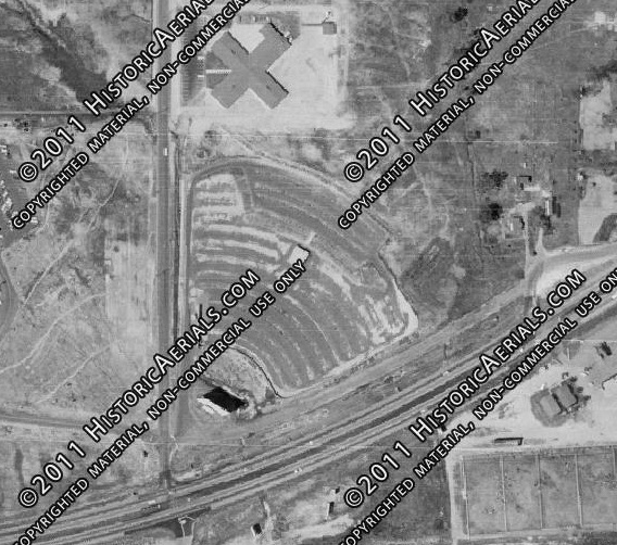 Aerial Photo of the Vista Drive-In from 1964
