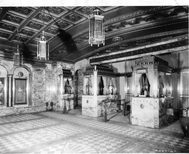 ROXY Theatre NYC, ticket lobby 1927