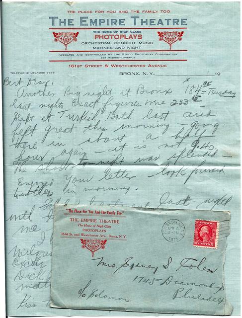Letter, April 6, 1915