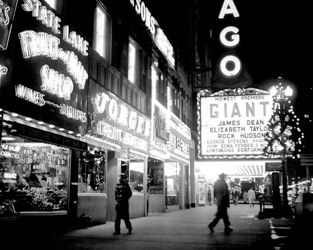 Chicago Theatre circa 1955