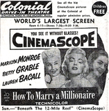 Colonial Drive-In newspaper ad