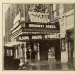 Marquee of the Capitol Theatre, Newton, Iowa in 1930