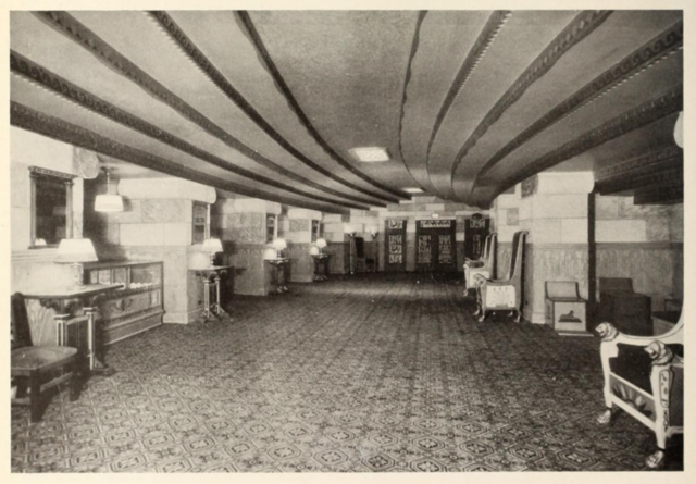 Orchestra Foyer of the Egyptian Theatre, Brighton, Mass in 1929