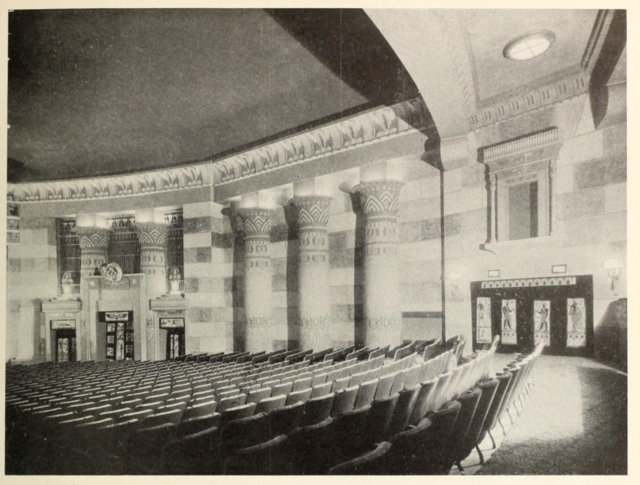 Auditorium of the Egyptian Theatre, Brighton, Mass in 1929