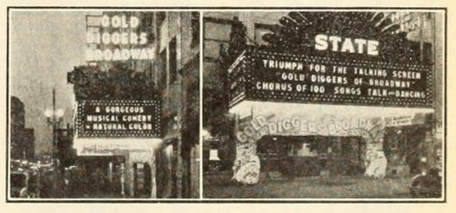 Marquee of the State Theatre, Flint, MI in 1930