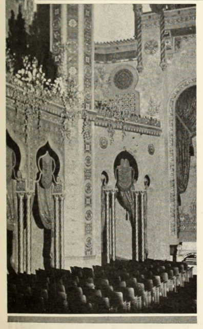 Sidewall and section of auditorium of the Fox Theatre, Appleton, Wis., in 1929