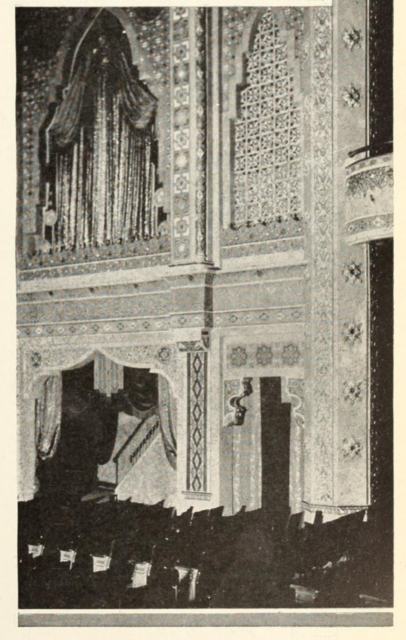 Another view of the Fox Theatre, Appleton, Wis., sidewalls showing the magnificence of drapse and panelling
