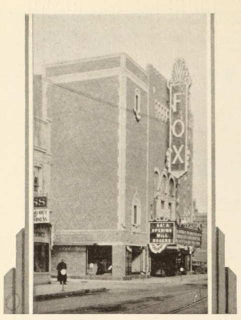 Fox Theatre, Appleton, Wis., in 1929