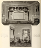 Proscenium stage and ladies cosmetics room in the Sheepshead Theatre, Brooklyn, New York in 1929