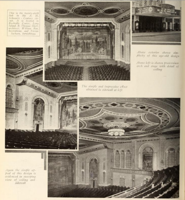Auditorium of the Fantasy Theatre, Rockville Centre, NY in 1930
