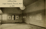 Lobby of the Cape Cinema, Dennis, MA in 1930