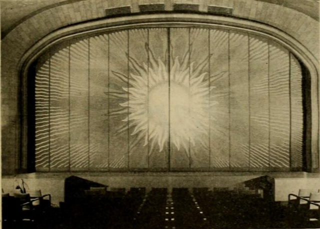 Curtain of the Cape Cinema, Dennis, MA in 1930