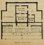 Balcony Floor Plan of the Cape Cinema, MA in 1930