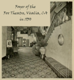 Foyer of the Fox Theatre, Visalia, CA in 1930