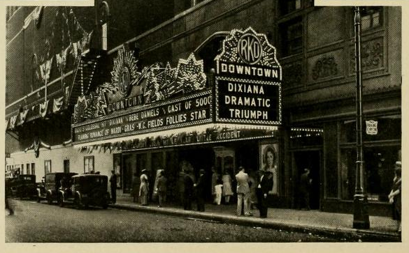 Marquee of the Downtown Theatre, Detroit, MI in 1930