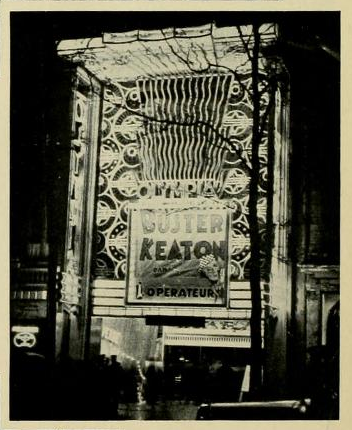Electric light display on the Olympia Theatre, Paris, France in 1930