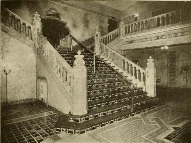 Lobby and staircase of the Tower Theatre, Milwaukee, WI in 1930
