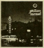 Broadway Theatre at night, Oakland, CA in 1930