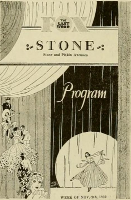Cover of a program for the Stone Theatrefrom 1930