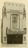 Facade of the Egyptian Theatre, DeKalb, IL in 1930