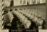 Seating in the Gateway Theatre, Chicago, IL in 1930