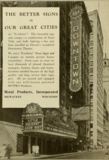 Advert featuring the Downtown Theatre, Detroit in 1930