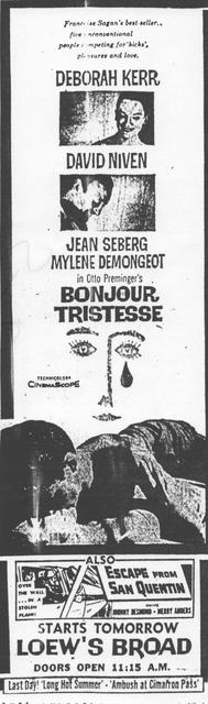 """Bonjour Tristesse"""